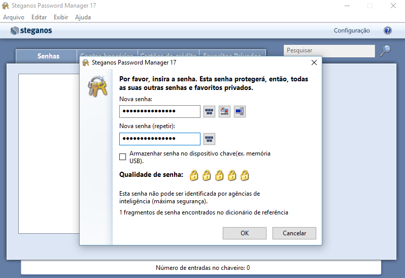 Senhas seguras com Steganos Password Manager