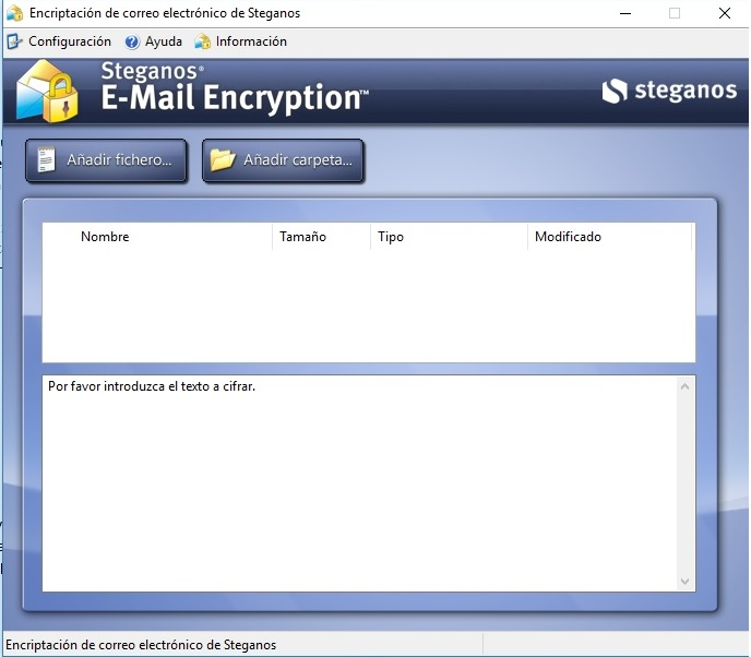 Steganos Privacy Suite Email Encryption