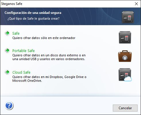 Utilizar a ferramenta Safe do Steganos Privacy Suite