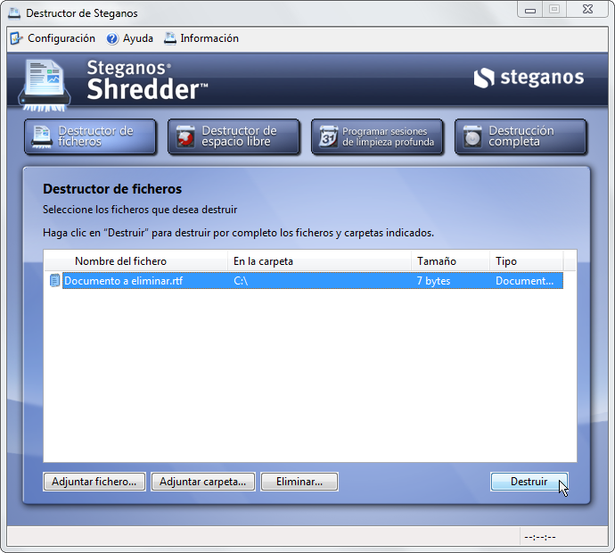 Destruir arquivos permanentemente com Shredder