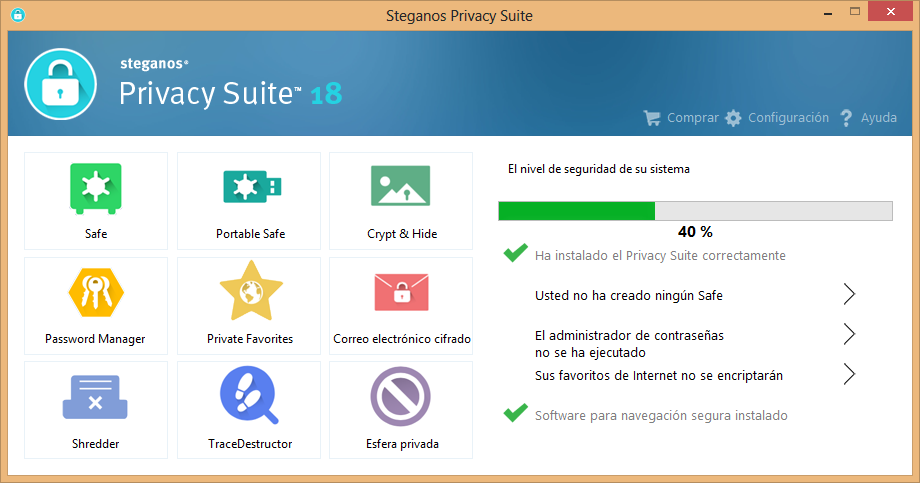 Como excluir arquivos com Steganos Privacy Suite